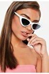 Cat Eye Bayan Güneş Gözlüğü Uv400 Beyaz