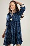 Kadın Puantiyeli Dantel Detaylı Elbise Y20s110-1637