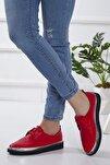 Bayan Kırmızı Kapitone Oxford Ayakkabı Oxkptne584235000