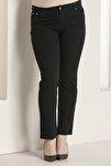 Kadın Pantolon Rg1029kb Jean Battal Yüksek Bel Düz Paç