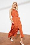 Tarçın Kuşaklı Gömlek Elbise TWOSS19XM0112
