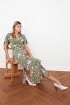 Çok Renkli Kuşaklı Gömlek Elbise TWOSS19EL0094