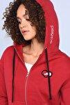 Ecko Red Heıdı Kırmızı Kadın Nakışlı Fermuarlı Sweatshirt