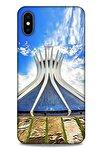 Apple Iphone Xs Max Uyumlu  Kılıf Dünya Mimarisi (16) Kalın Kılıf Brasilia Katedrali