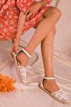 Beyaz Kadın Sandalet 15046