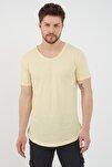 Erkek Ay Işığı Sarı Salaş T-shirt