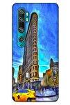 Xiaomi Mi Note 10 Kılıf Dünya Mimarisi (7) Telefon Kılıfı Flat Iron New York