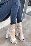 Kadın Margaret Süet Topuklu Ayakkabı Bej