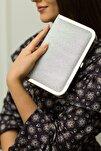 Tablet Gümüş Simli Abiye Çanta