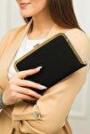 Tablet Siyah Nubuk Abiye Çanta