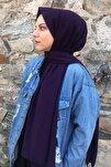 Kadın Mor Medine İpeği Şal Mor
