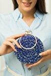 Kadın Mavi Taşlı Bilezik Abiye Çanta