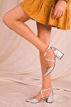 Gri Kadın Klasik Topuklu Ayakkabı 14392