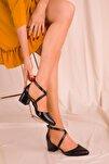 Siyah Kadın Klasik Topuklu Ayakkabı 14392