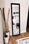 Dekoratif Retro Boy Aynası Siyah 120 X 48 Cm