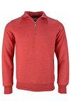 Diagonal Yarım Fermuarlı Sweatshirt
