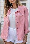 Kadın Pembe Kot Ceket 8YXK4-30628-20