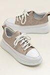FANCY Bej Süet/Beyaz Kadın  Sneaker 20YSE192404