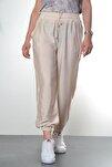 Kadın Taş Renkli Manşet Ve Cep Detaylı Pantolon