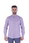 Uzun Kollu Erkek Gömlek Mor/Purple 1912007