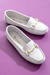 Bej Süet Kadın Loafer Ayakkabı TB1200-1