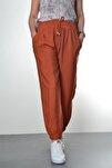 Kadın Kiremit Manşet Ve Cep Detaylı Pantolon