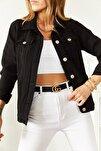 Kadın Siyah Kot Ceket 8YXK4-30628-02 8699430628021