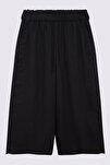 Kadın Siyah Wide Leg Crop Pantolon T57007128X