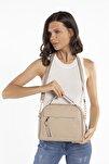 Aynı Butikte 2.Ürün 1 TL  Vizon Kadın Çok Bölmeli Omuz Çantası Çapraz Çanta ve El Çantası