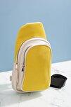 Kadın Sırt Çantası Sarı Beyaz Tbc13