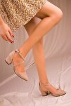 Vizon Süet Kadın Klasik Topuklu Ayakkabı 14392