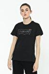 Kadın The Perfect Siyah T-shirt - 17369-1328