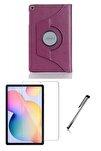 Samsung Galaxy Tab S6 Lite P610 Mor Dönerli Tablet Kılıf Seti (10.4 inç)