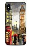 Iphone Xs Max Uyumlu Dünya Mimarisi (11) Tam Koruma Londra Saat Kulesi Kılıf