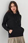 Kadın Siyah Cep Detaylı Sweatshirt S7066-1 - B11 - B12 ADX-0000019965