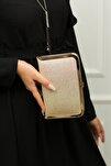 Tablet Light Altın Simli Abiye Çanta