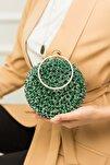 Kadın Yeşil Taşlı Bilezik Abiye Çanta