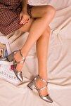Bronz Kadın Klasik Topuklu Ayakkabı 14392