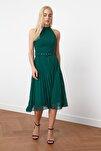 Yeşil Kemer Detaylı Elbise TWOSS20EL1341