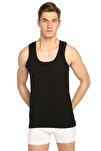 Erkek Siyah 6'lı Paket Ribana Klasik Atlet Elf568t0102ccm6