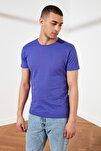 Mor Erkek Basic Pamuklu Kısa Kollu Slim Fit T-Shirt - TMNSS19BO0001
