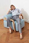 Mint Yüksek Bel Nervür Dikişli Pantolon TWOSS21PL0093