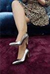 Kadın Platin Topuklu Ayakkabı