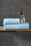 Jakarlı Banyo Havlu Takımı 100*150 - 50*90