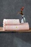 Jakarlı Banyo Havlu Takımı 100x150 - 50x90