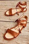 Taba Süet Kadın Sandalet L0652071065
