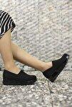 Kadın Siyah Rugan Günlük Ayakkabı