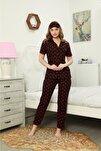 Kadın Pamuklu Kısa Kollu Pijama Takımı