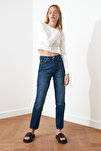 Lacivert Yüksek Bel Bootcut Jeans TWOSS21JE0035