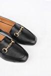 Kadın Siyah Loafer Ayakkabı Bekla